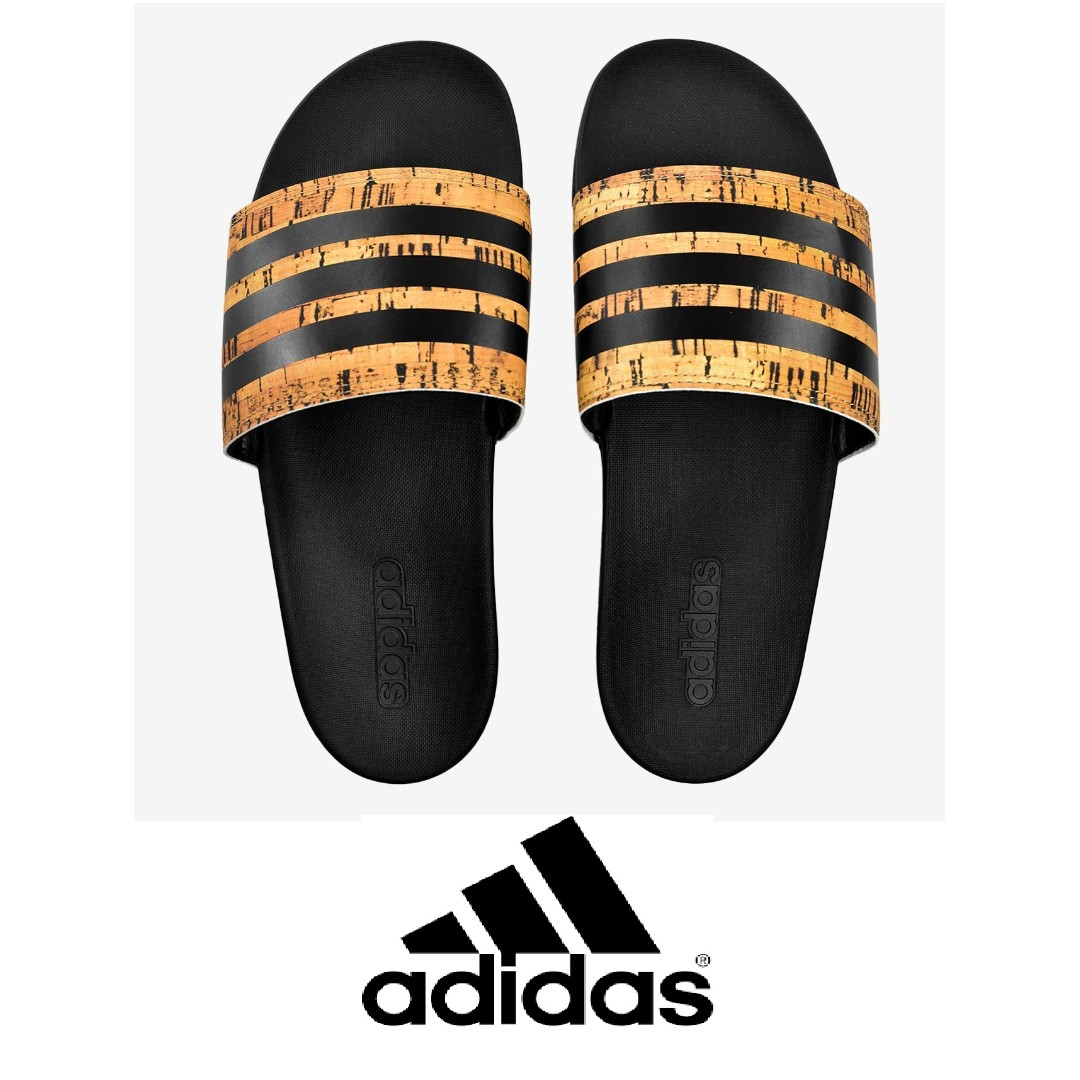 18741288168 adidas Men Training Adilette Cloudfoam Plus Cork Slides