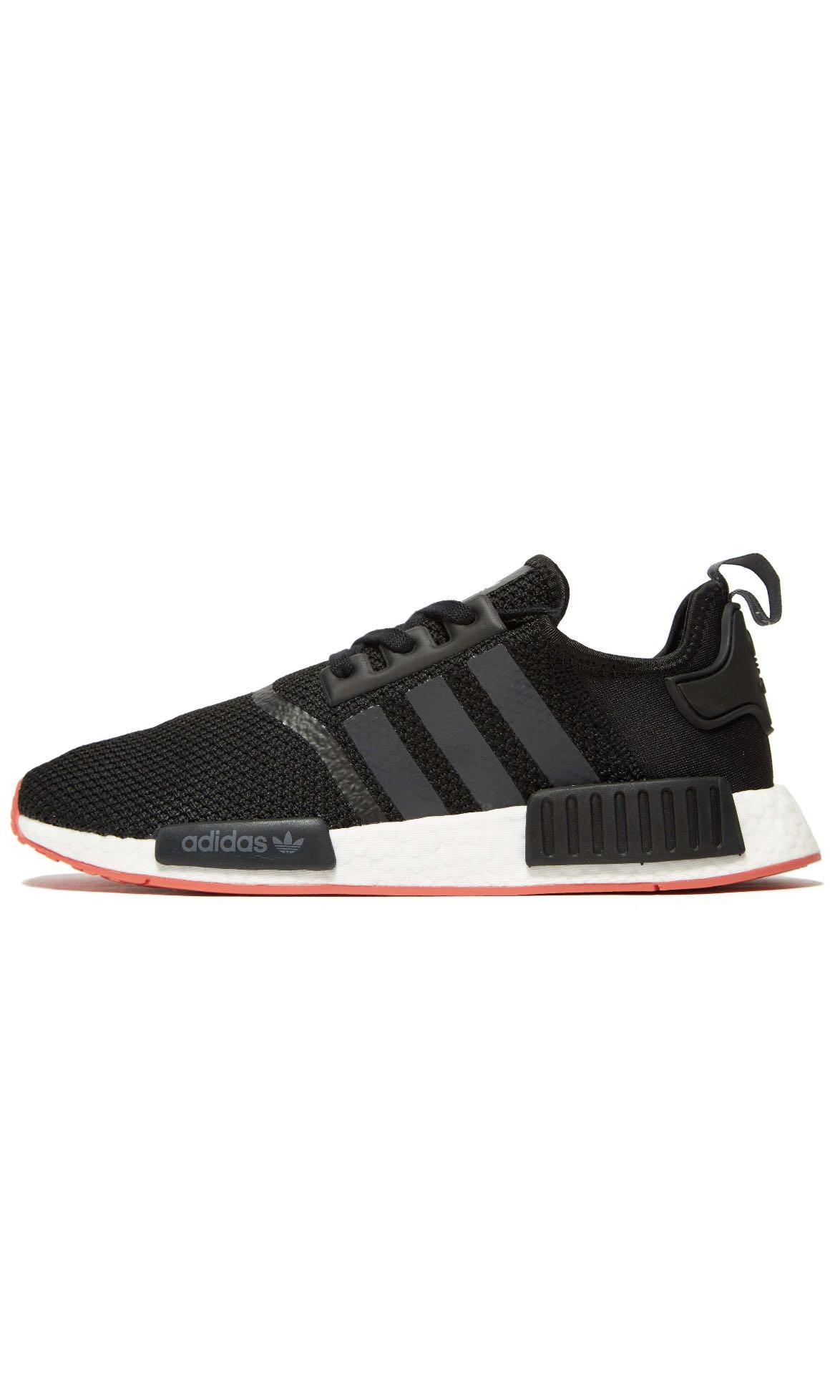5e8756957d3738 Adidas NMD R1 Tact Black with Orange Sole UK 6-12