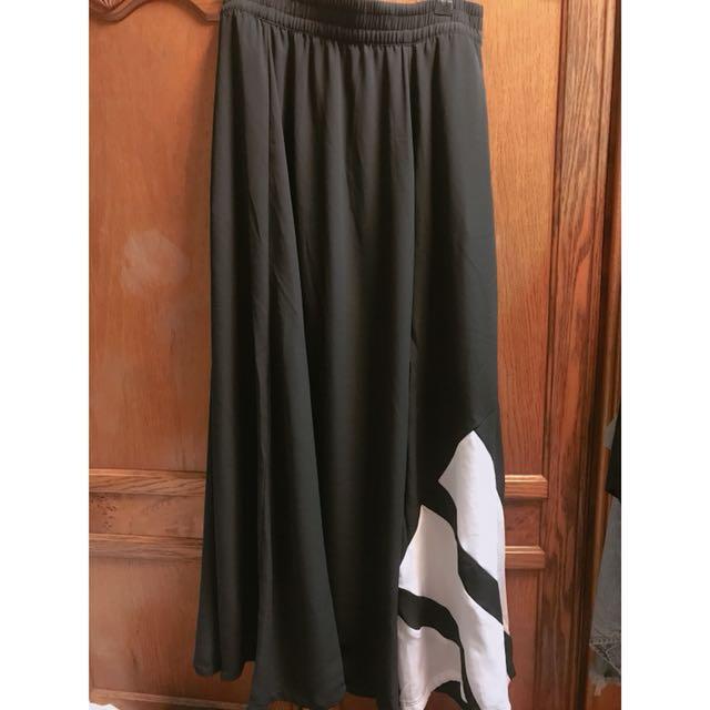 Adidas Originals EQT 黑色A字長裙 范冰冰