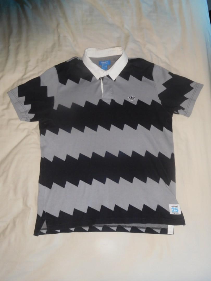 Adidas Originals x Nigo Serrated Rugby Polo Shirt Size XL