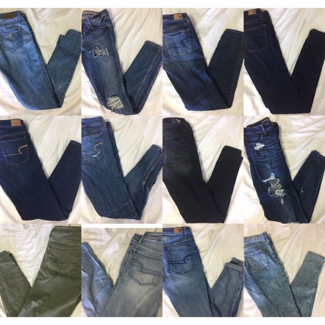 AE/Guess/Topshop Jeans