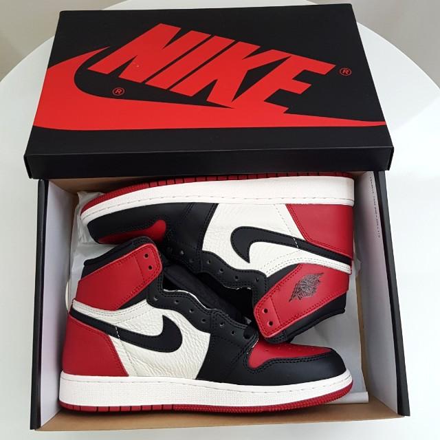 new styles 0eaea 69971 Air Jordan 1 OG Bred Toe