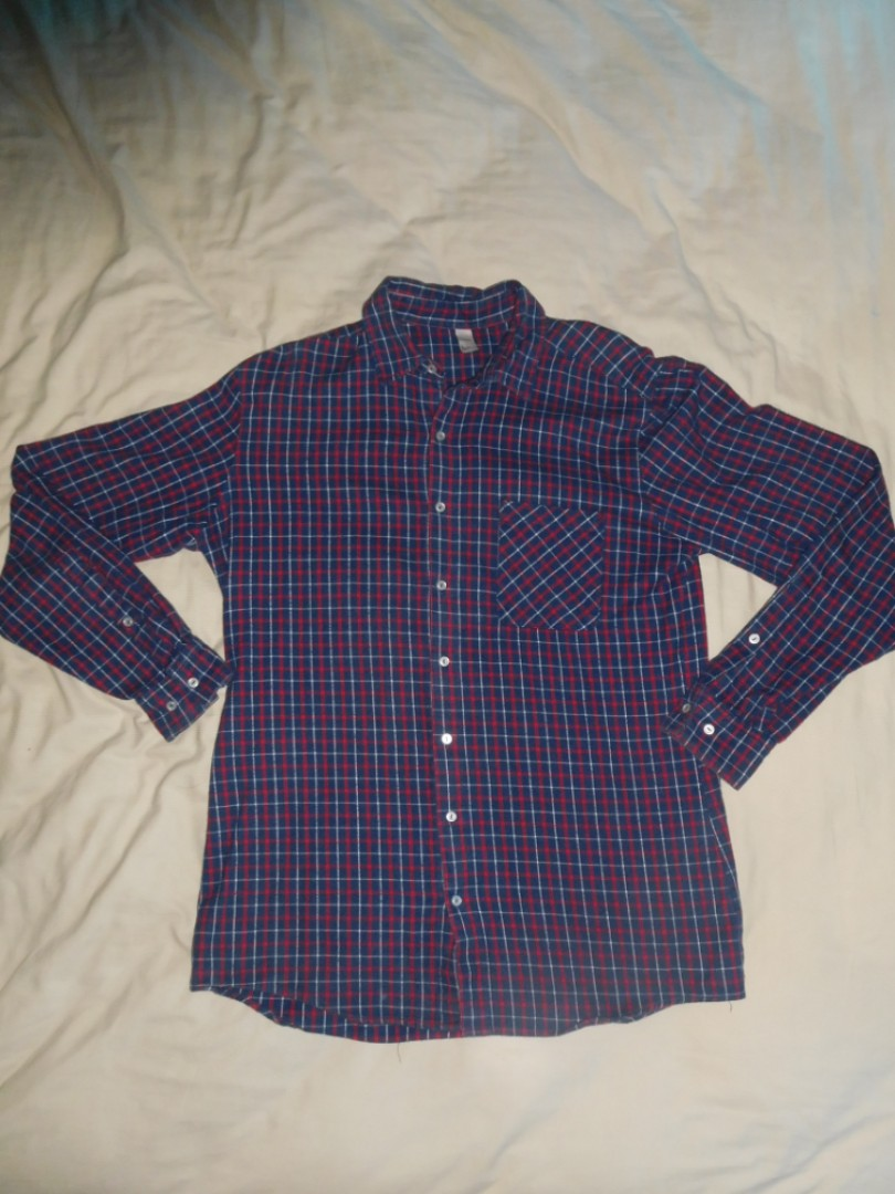 American Apparel Flannel Button Up Shirt Size L