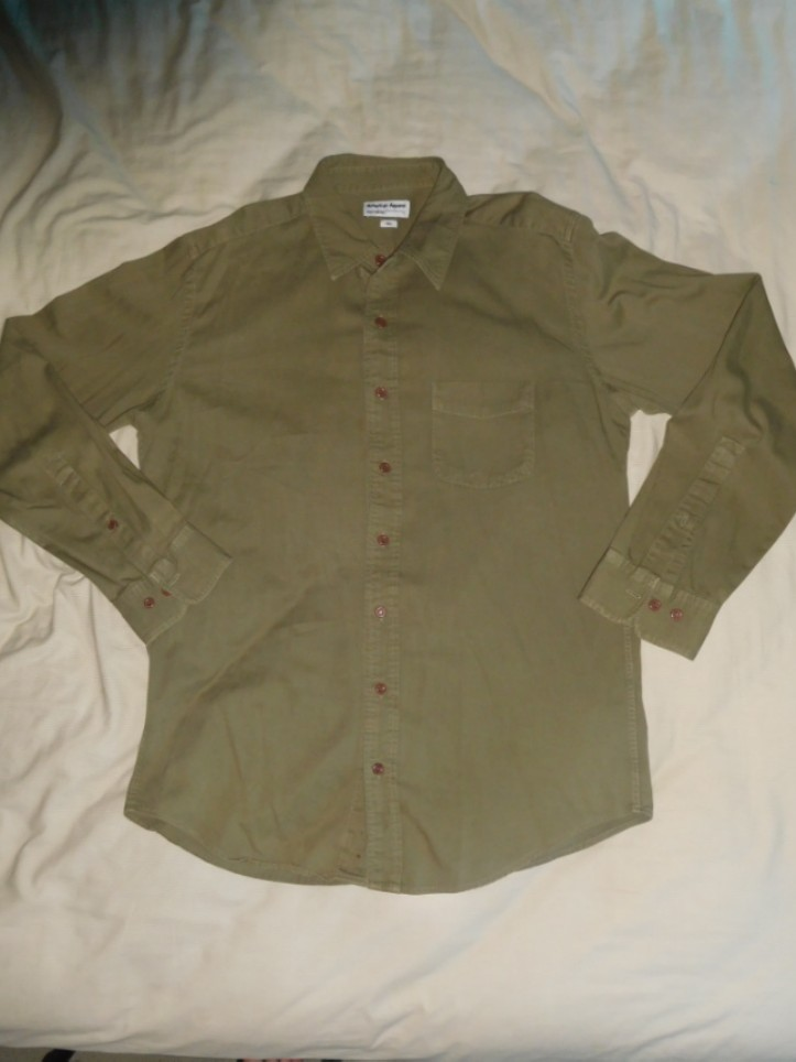 American Apparel Twill Button Up Shirt Size L