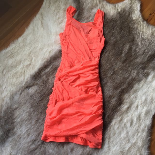 Bardot Guava Dress 8