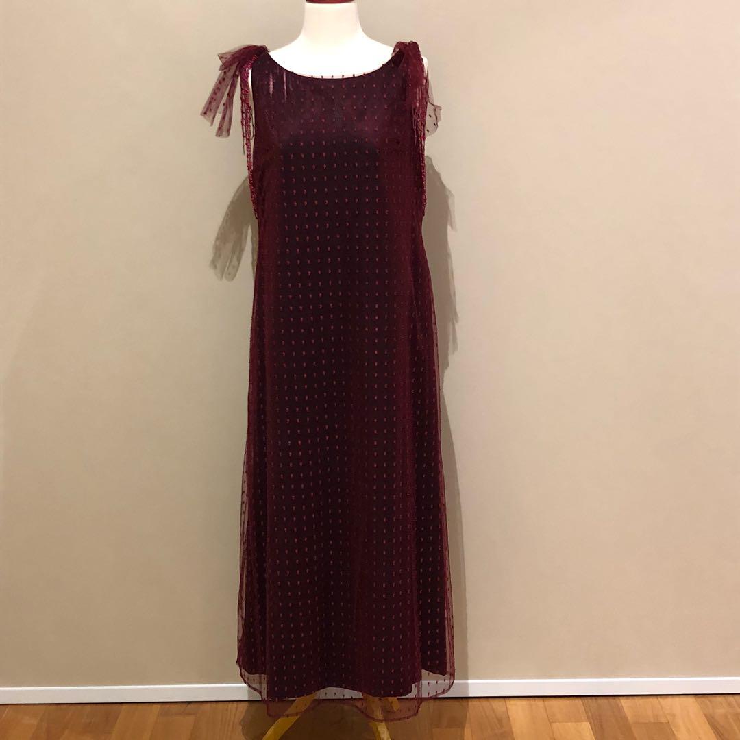 Bella Dress in Maroon