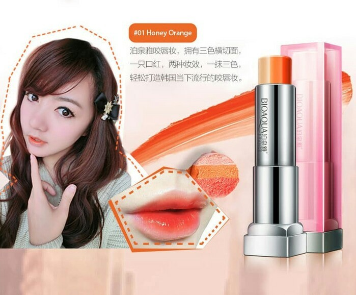 Bioaqua Lipstik TriColour