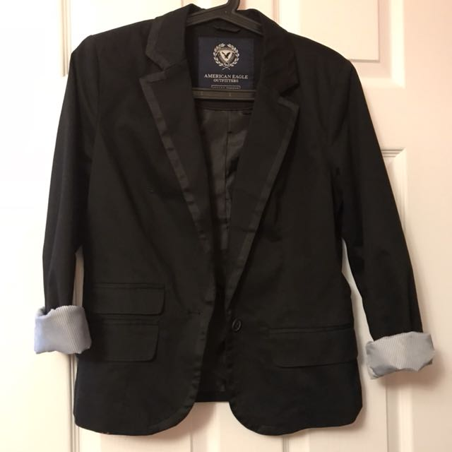 Black American Eagle blazer