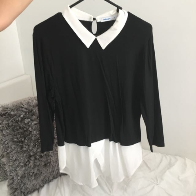 Black and white business top