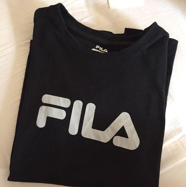BLACK FILA TEE