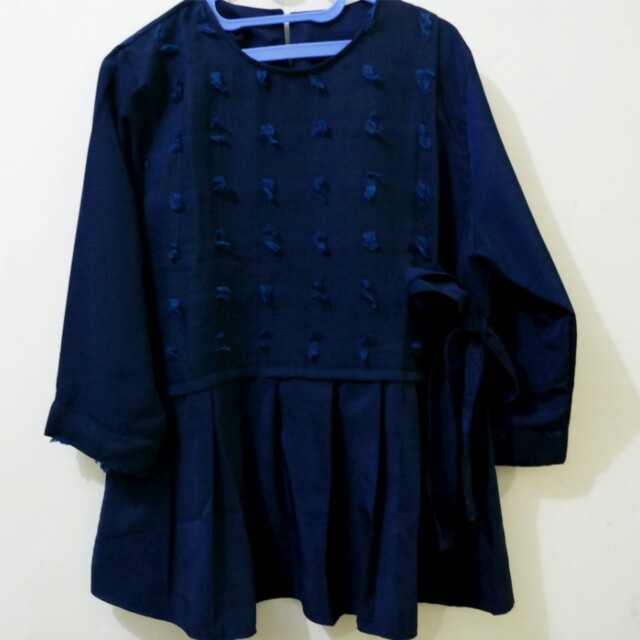 Blouse rubiah navy