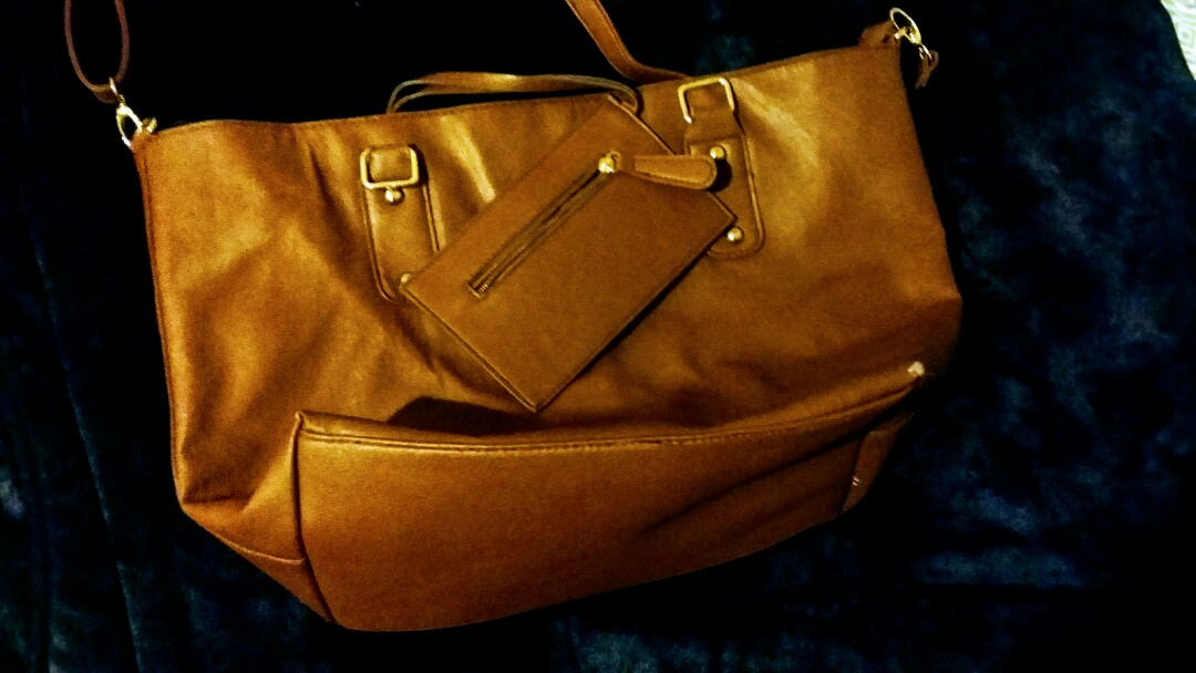 Brown Open Purse