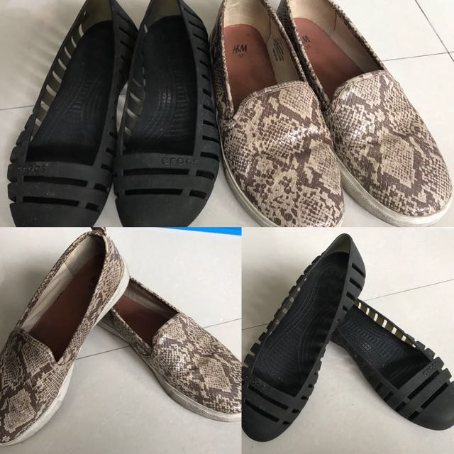 Buy 1 Take 1 Crocs Shoes and HM Slip On Size 7