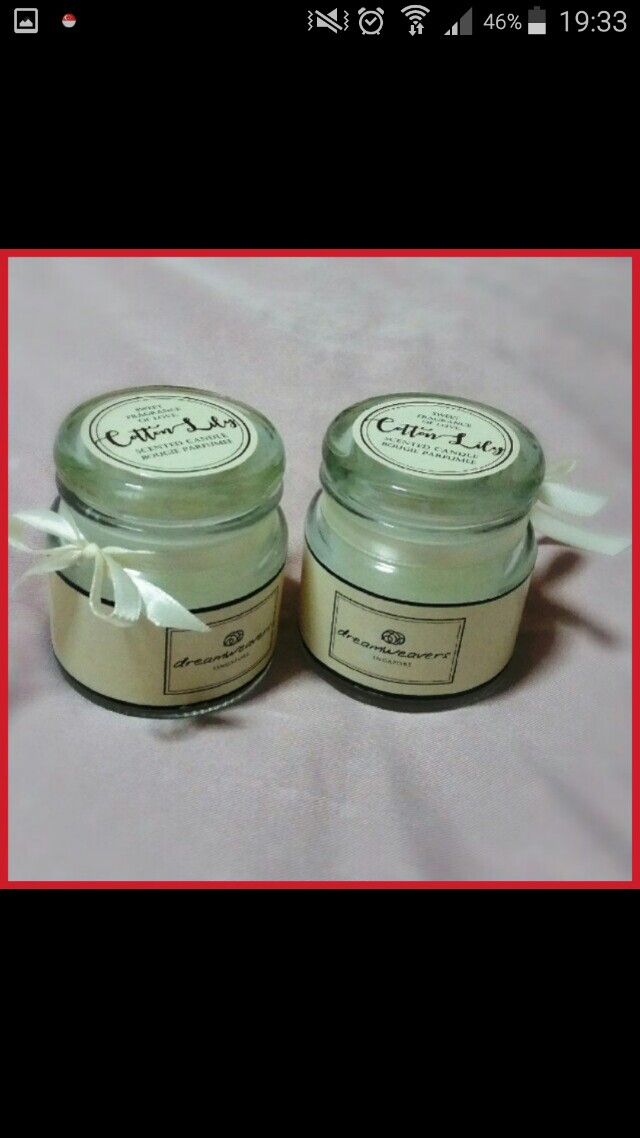 Scented Candle - Cotton Lilly