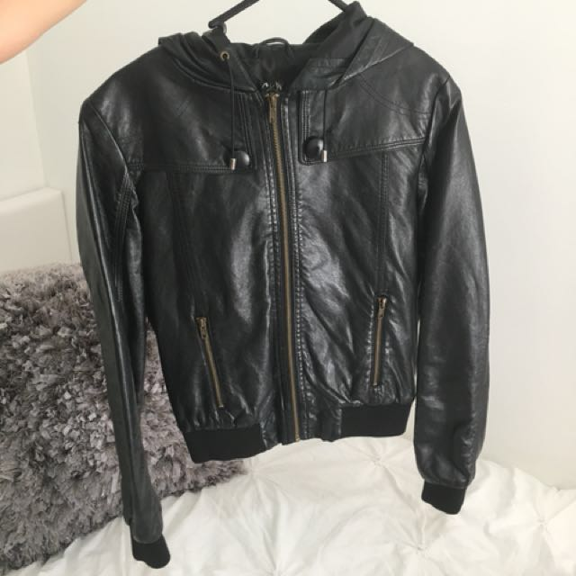 CKM Black leather jacket