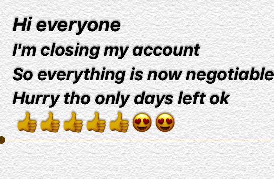 Closing down for good sale Neg Neg Neg hurry