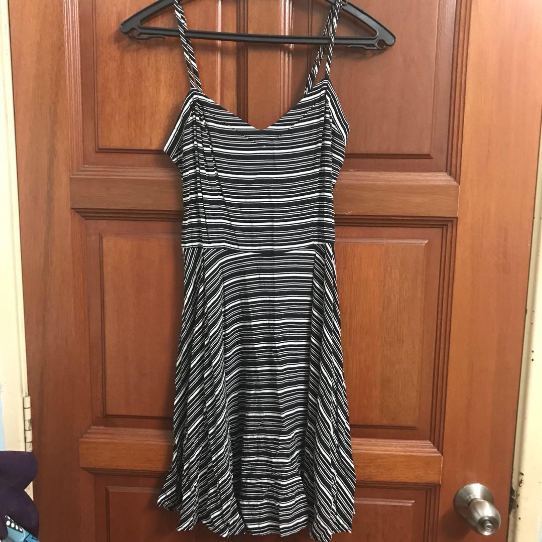 Cotton On Strappy V Neck Stripes Dress