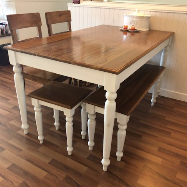Custom Made Dining Table Chairs Side