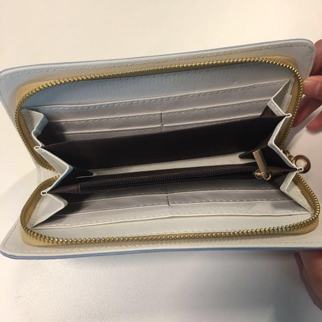 Cute Blue Suede Wallet