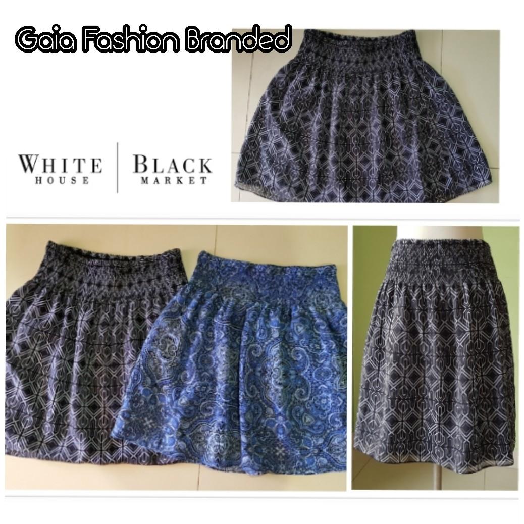 Cute White House Black Market Soft Print Skirt