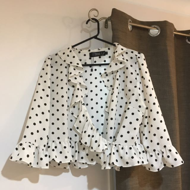 Dissh Spotted Wrap Blouse
