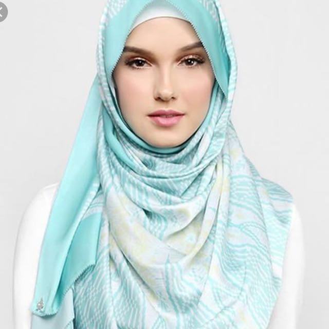 Duckscarves songket in turquoise
