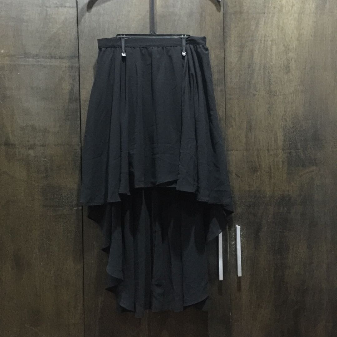 F21 Black Hi-Low Skirt