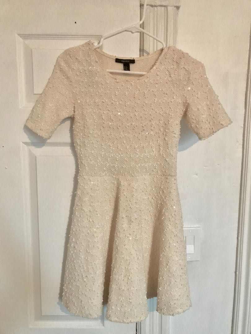 F21 white a-line dress