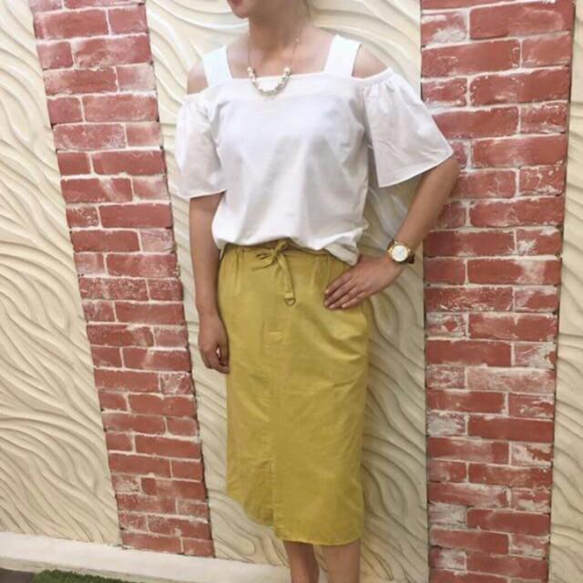 花苞裙F均碼芥黃色可換物