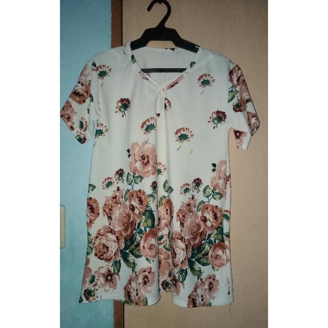 Floral Criscross Blouse