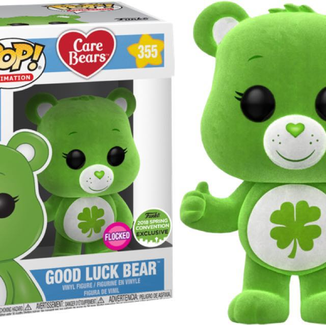 Funko Pop ECCC Flocked Good Luck Care Bear Alien Rick & Morty Padme Amidala Star Wars Spring Convention Limited Edition Exclusives 2018