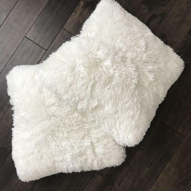 Furry cushions
