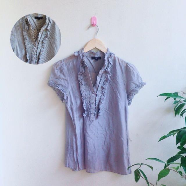 Gap blouse stripe