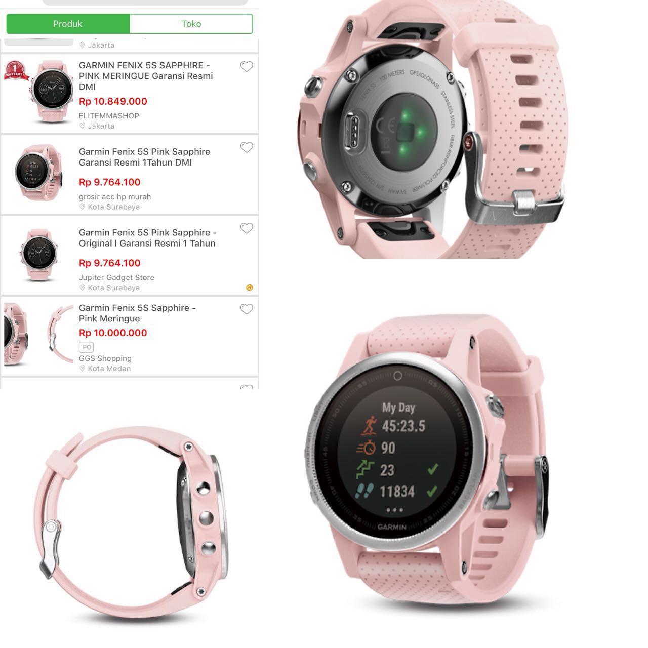 Garmin Fenix 5S Sapphire Smartwatch - Pink 8f649c383c