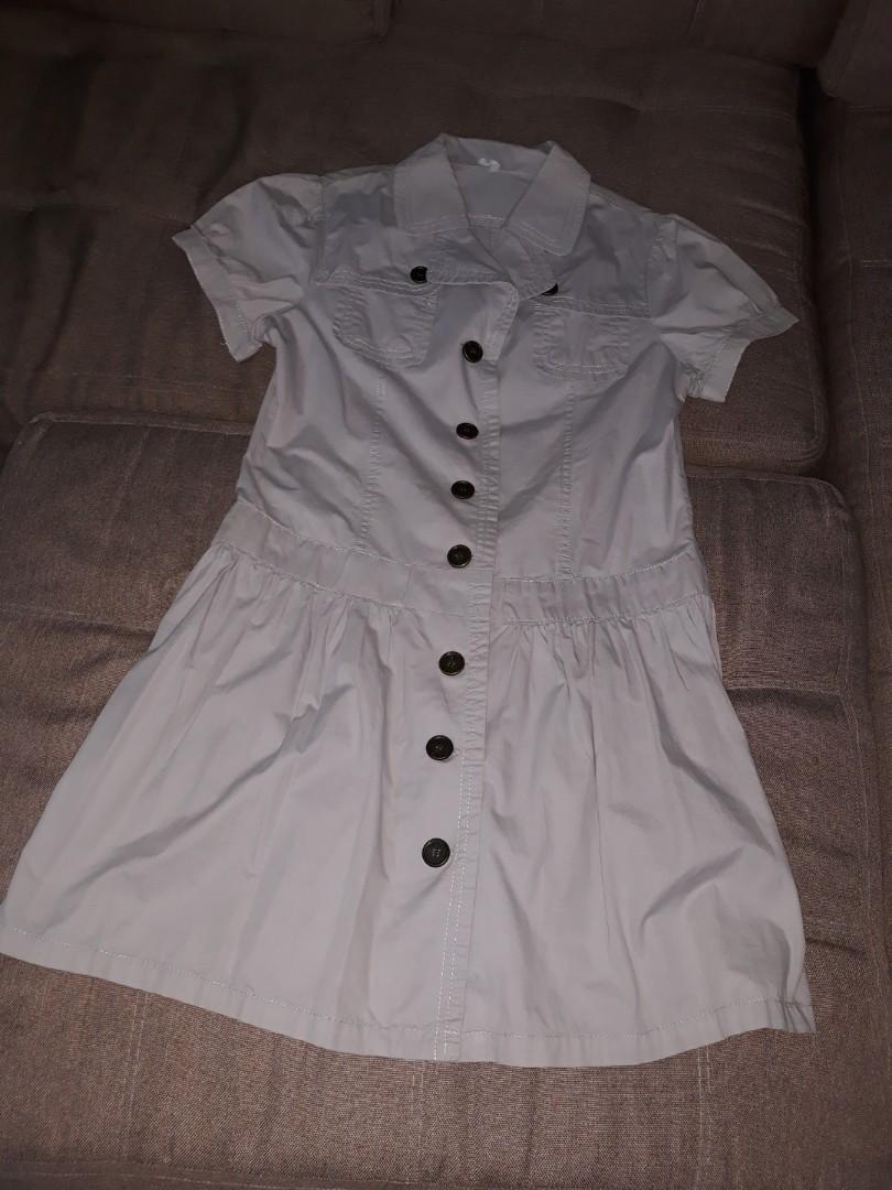 Gray button down dress