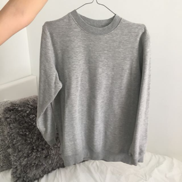 b5982f7a87 Grey oversized jumper