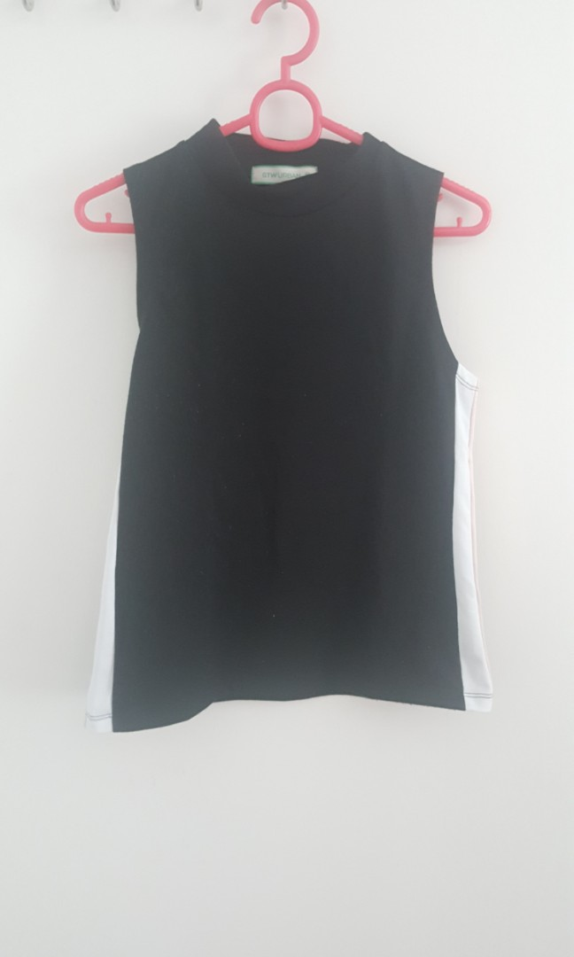 GTW Black & Side Stripped Top