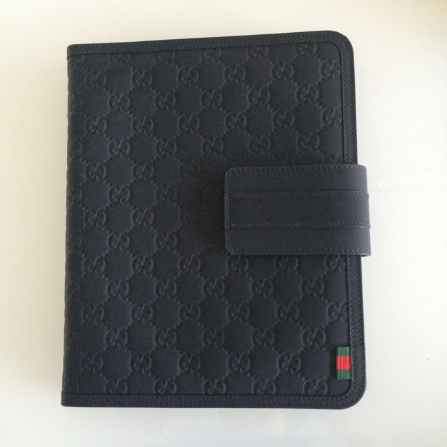 25f4273605bb Gucci Black Rubber Guccissima iPad Case/cover, Electronics on Carousell