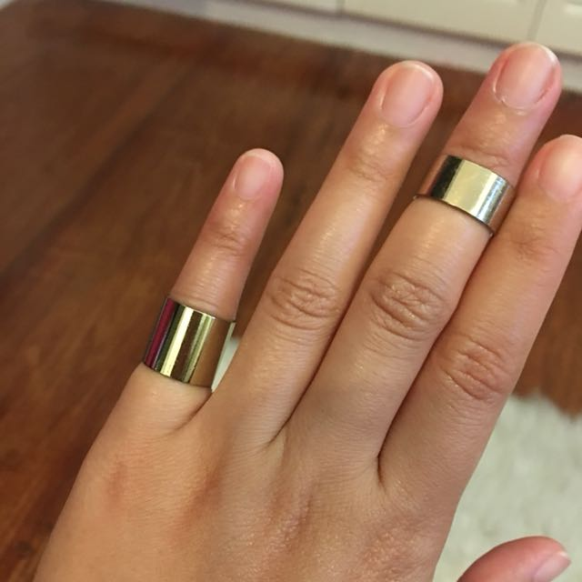 H&M 2-piece Gold Rings