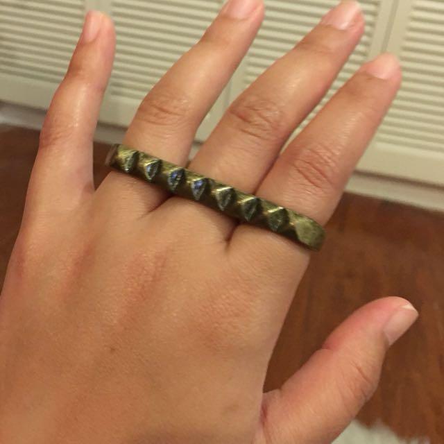 H&M Brass Bar Ring