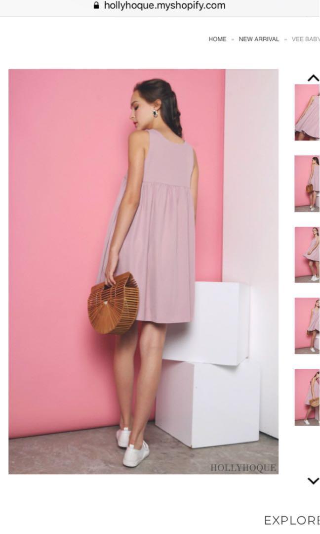 b4170a5ad95c Hollyhoque babydoll Dress S, Women's Fashion, Clothes, Dresses ...