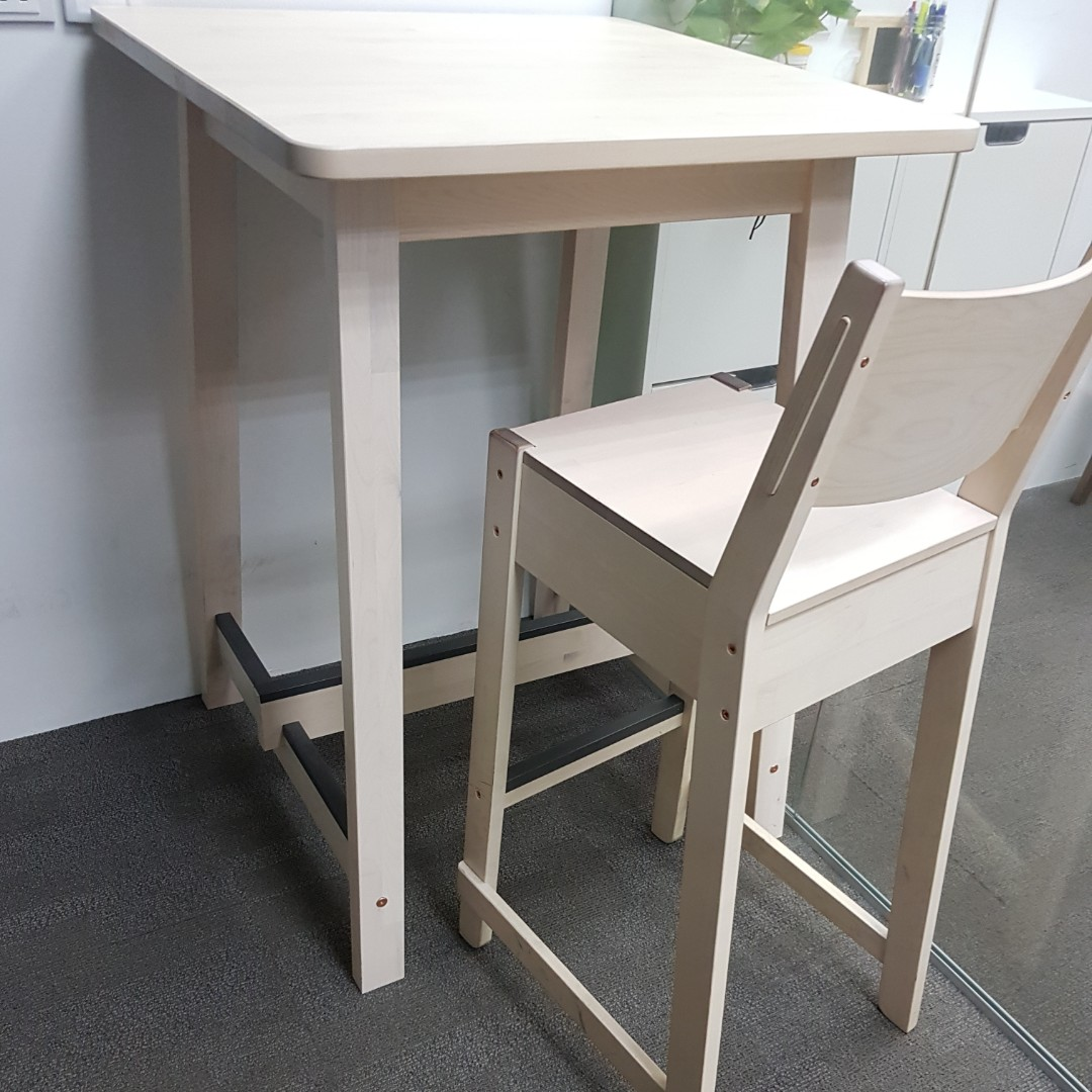 Ikea Norraker High Table And Chair