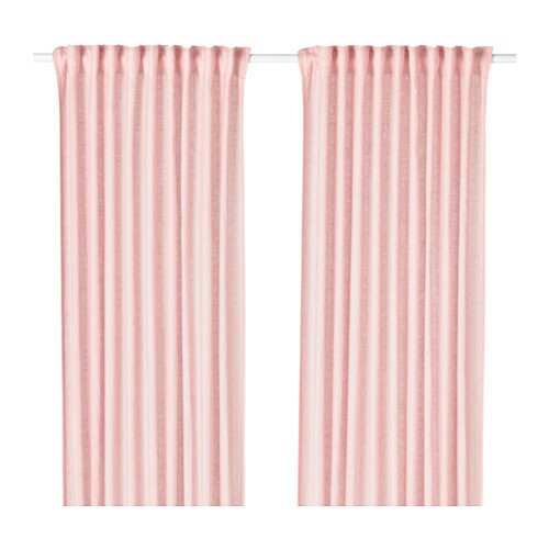 Ikea Vivan Pink Curtains 2 Panels 57 X 98 Home Furniture