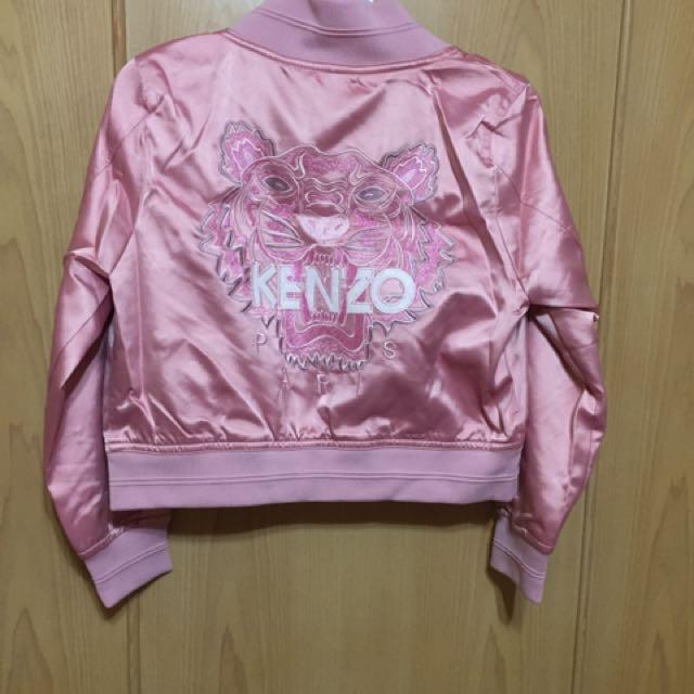 Kenzo 刺繡外套 老虎刺繡 外套 粉紅