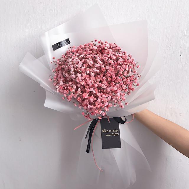 Korean Style Baby\'s Breath Bouquet| Birthday Bouquet| Anniversary ...