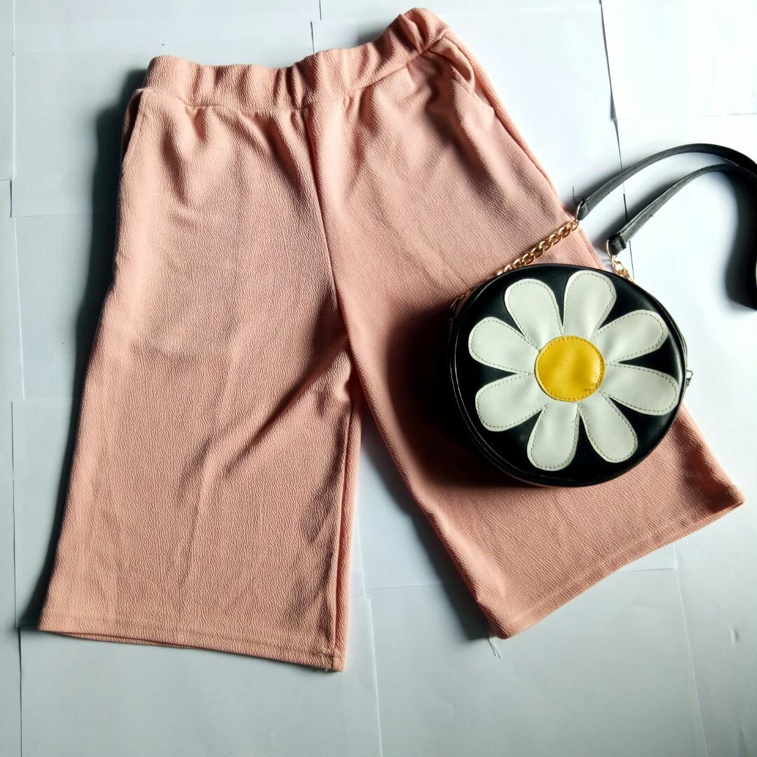 Kulot pink / Celana kantor/ Kulot pendek