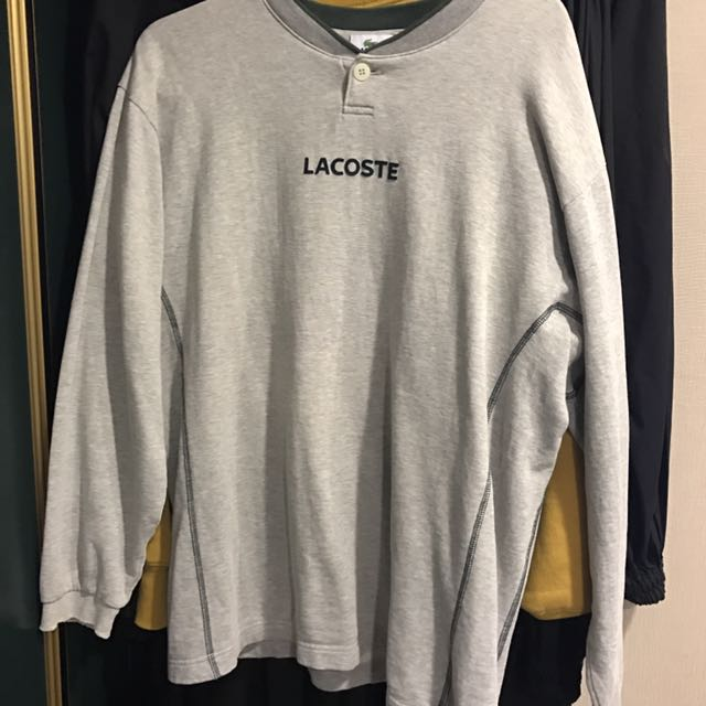 古著Lacoste 灰色長袖t