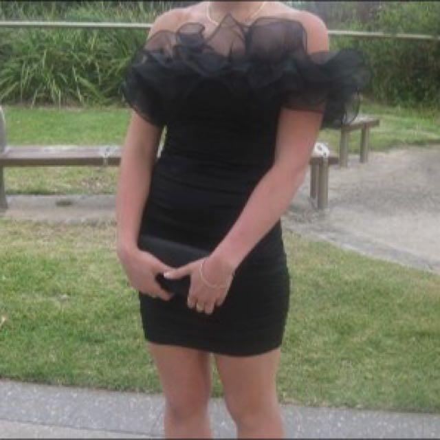 LBD Black Formal / Cocktail Dress , Off The Shoulder