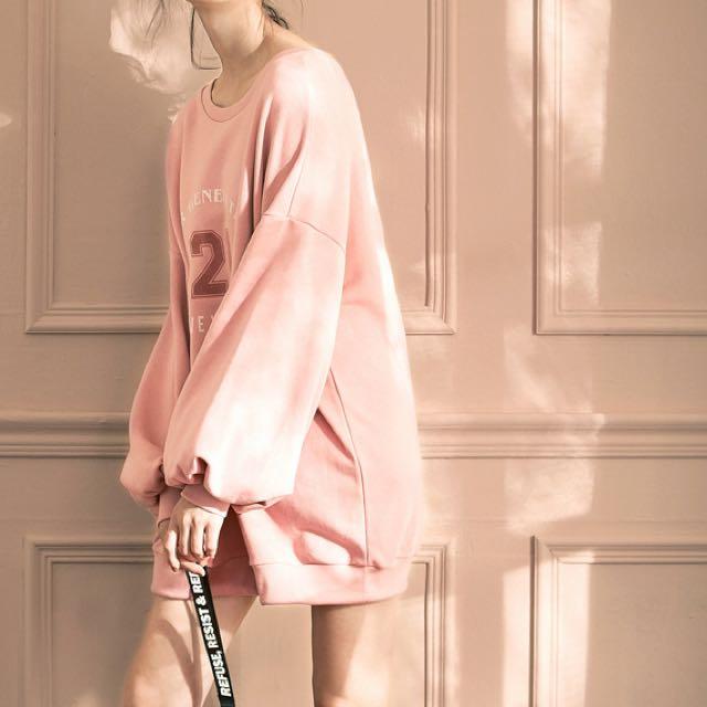Lovfee 簡約字母休閒洋裝