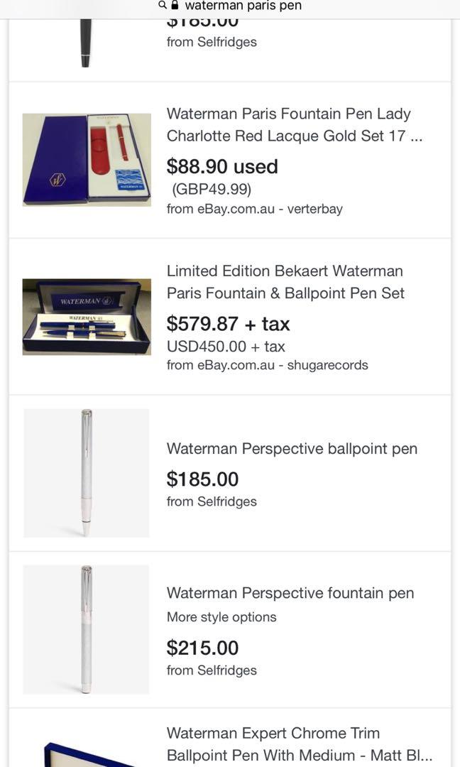 Luxury Waterman Ballpoint pen